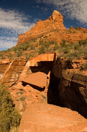 Devil's Kitchen, a sinkhole just off the Soldier Pass Trail