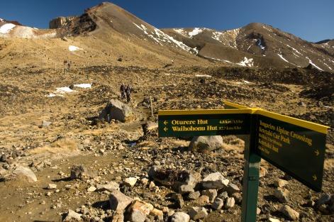 Trail Junction on the Tongariro Alpine Crossing