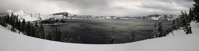 Crater Lake Panorama, March 2012