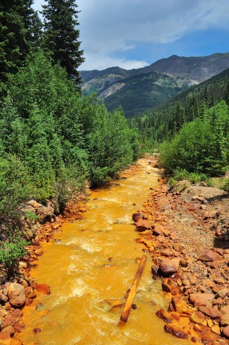 A very orange and acidic Red Mountain Creek