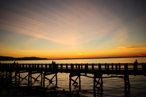 Sunset over Bellingham Bay, Washington