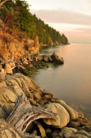Sundown along Samish Bay