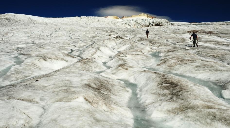 the Easton Glacier, Mt. Baker, Washington