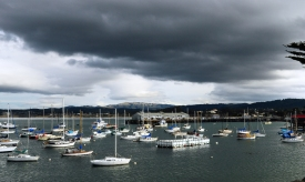 Storm brewing over Monterey Bay