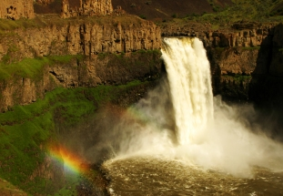 Palouse Falls and Rainbow