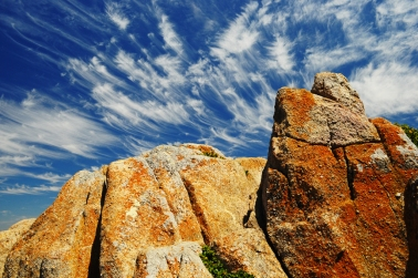 Cirrus clouds above Lover's Point, Monterey, CA