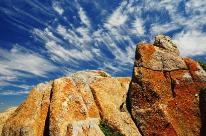 Cirrus clouds above Lover's Point, Monterey, CA