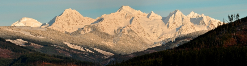 The Twin Sisters in the Cascade Range, just east of Bellingham