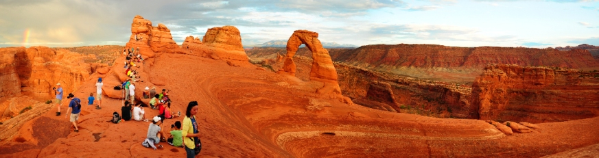 Delicate Arch Sunset Pano