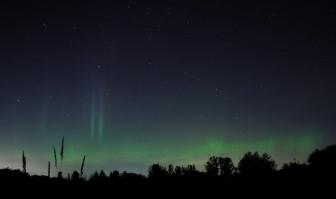 Aurora borealis from Bellingham, Washington