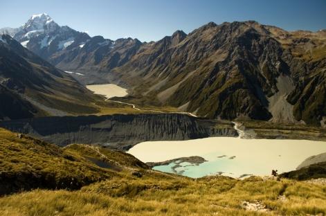 Mt Cook and Hooker Glacier