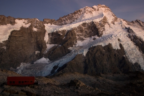 Mueller Hut and Mt. Sefton