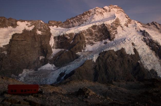 Mueller Hut and Mt. Sefton