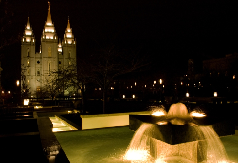 Salt Lake Temple at Night