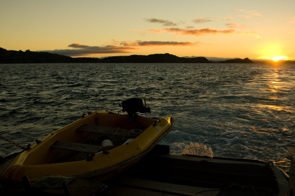 Sunset in the Bay of Islands, New Zealand