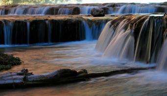 A small cascade along Havasu Creek just downstream of Mooney Falls