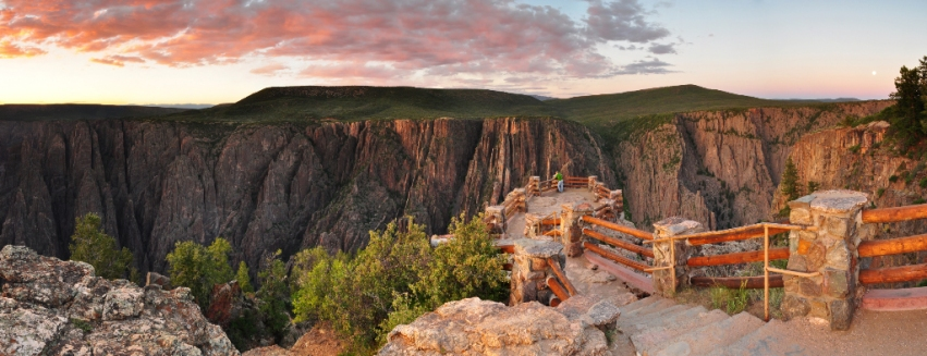 Sunset at Black Canyon on the Eve of the 2013 Supermoon