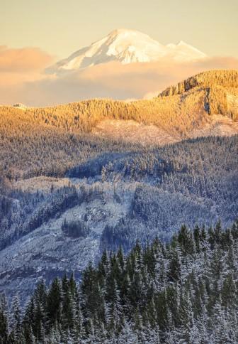 Mt. Baker from the Chuckanut Mountains near Bellingham