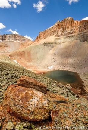 Unnamed lake below Vermillion Peak