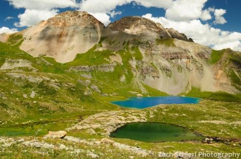Several lakes in Ice Lake Basin