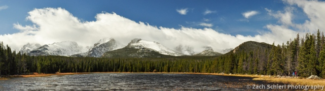 Peaks and Clouds from Bierstadt Lake