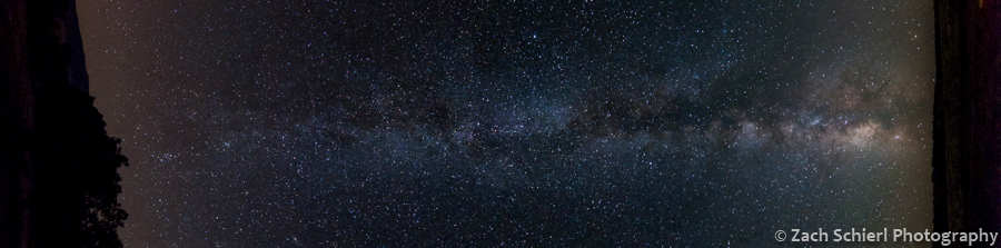 Milky Way stretching from horizon to horizon.