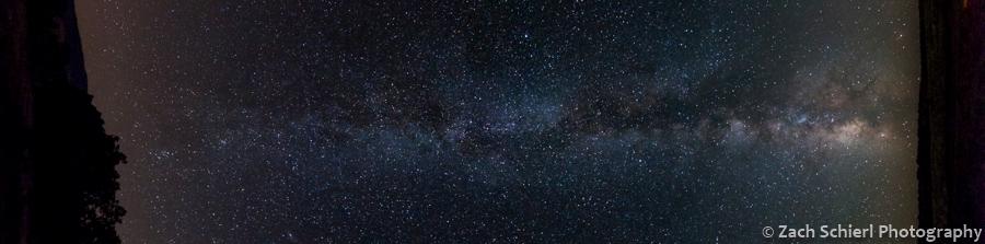 Milky Way stretching from horizon to horizon.