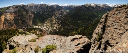Panorama from the summit of Twin Peaks, Ouray, CO