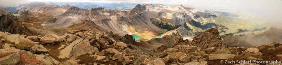 Panorama from the summit of Mt Sneffels