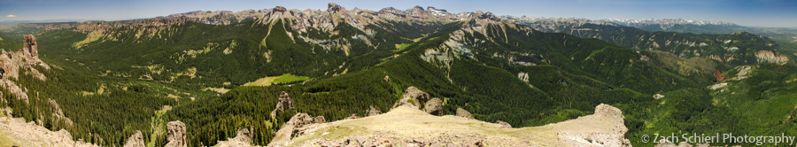 Panorama from the summit of Courthouse Mountain