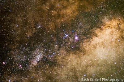 Milky Way center close-up