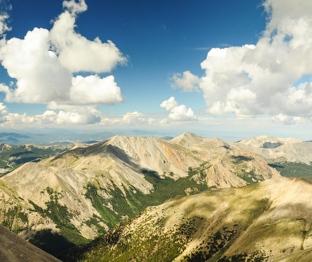 Panorama from summit of Mt Shavano