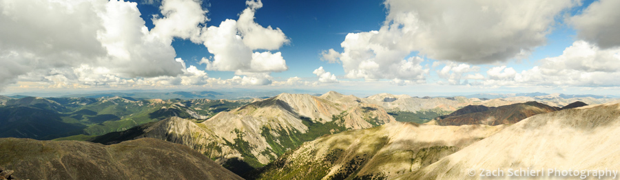 Panorama from summit of Mt Shavano