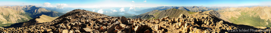 Panorama from the summit of Mt. Elbert