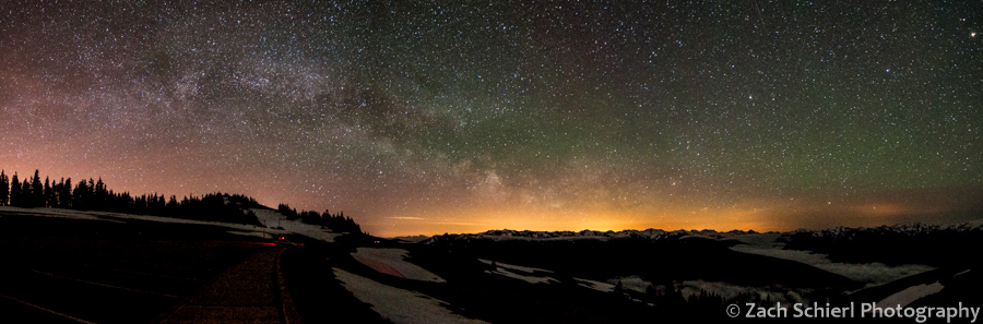 Milky Way and airglow from Hurricane Ridge, Olympic National Park