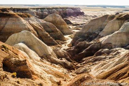 Colorful badlands in the Chinle Formation