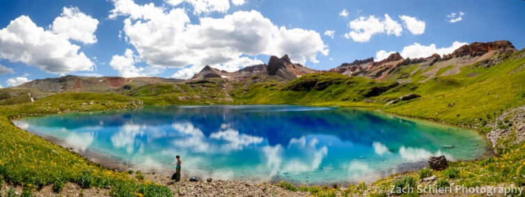 Panorama of Ice Lake, San Juan Mountains