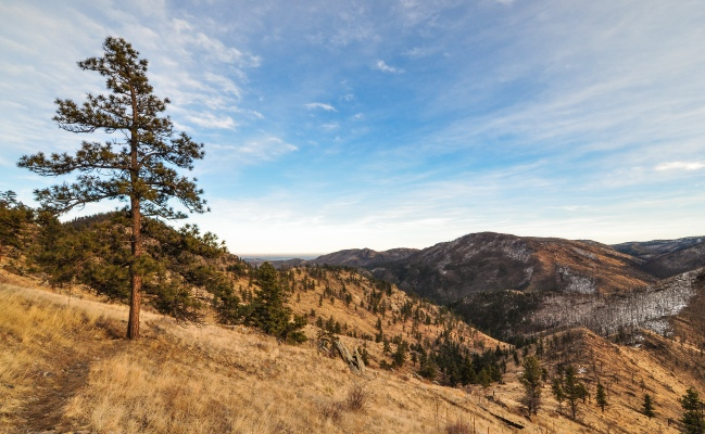 Poudre Canyon before sunset