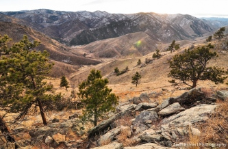 Sunset above Poudre Canyon