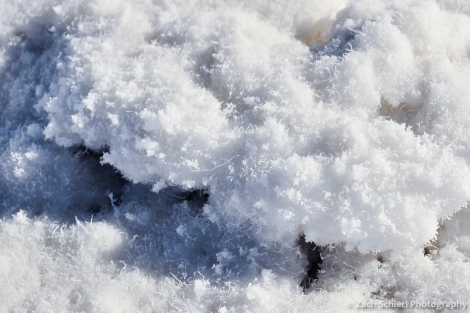Close-up of salt formations at Badwater, Death Valley