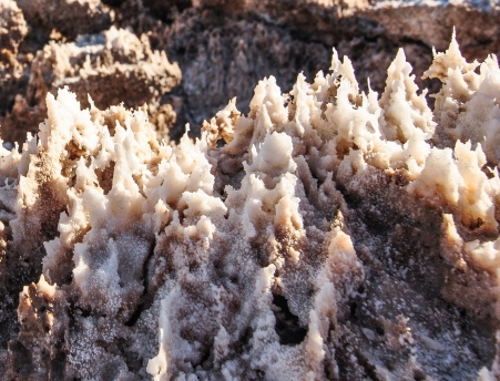 Close-up of the salt formations at Devil's Golf Course.