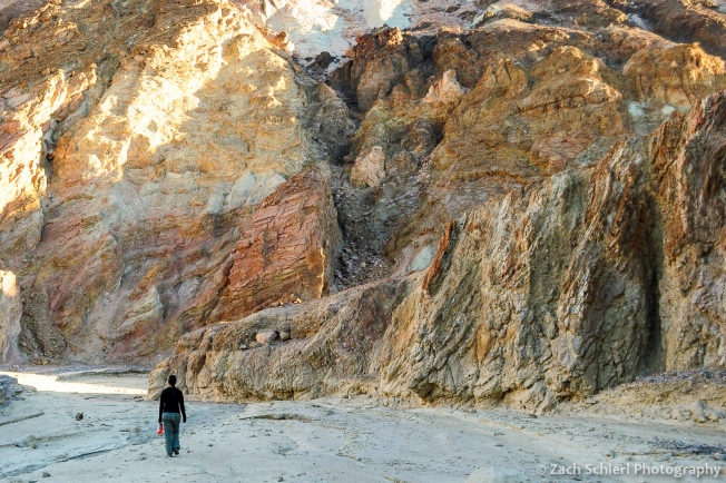 Colorful rocks in Gower Gulch, Death Valley National Park