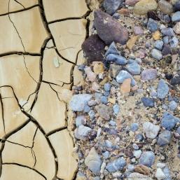 Flood deposits in Gower Gulch, Death VAlley National Park