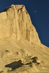 Late afternoon light on Manly Beacon in the badlands near Furnace Creek.