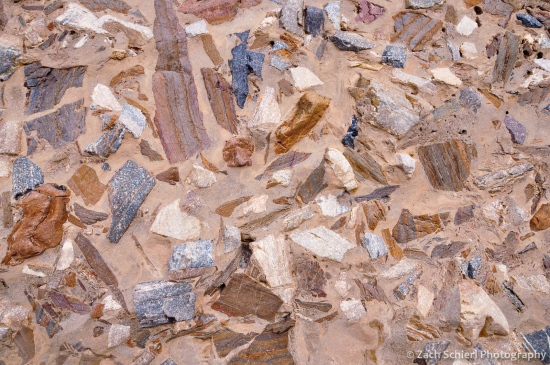 Colorful breccia in Mosaic Canyon, Death Valley National Park