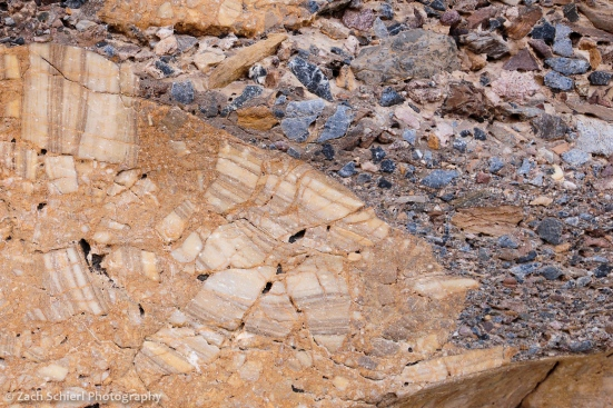 breccia in Mosaic Canyon, Death Valley National Park