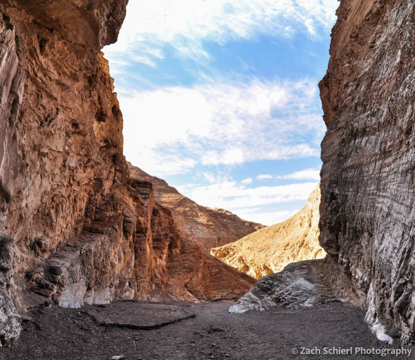 Looking down Mosaic Canyon, Death Valley National Park