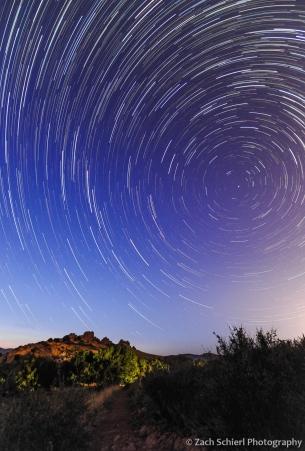 Star Trails over Devil's Backbone Open Space