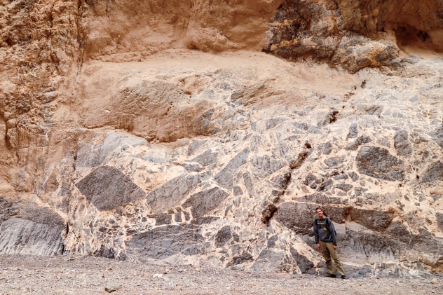 Large Breccia clasts in Titus Canyon, Death Valley National Park