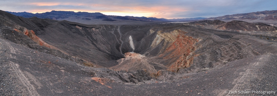 Ubehebe Crater at Sunset